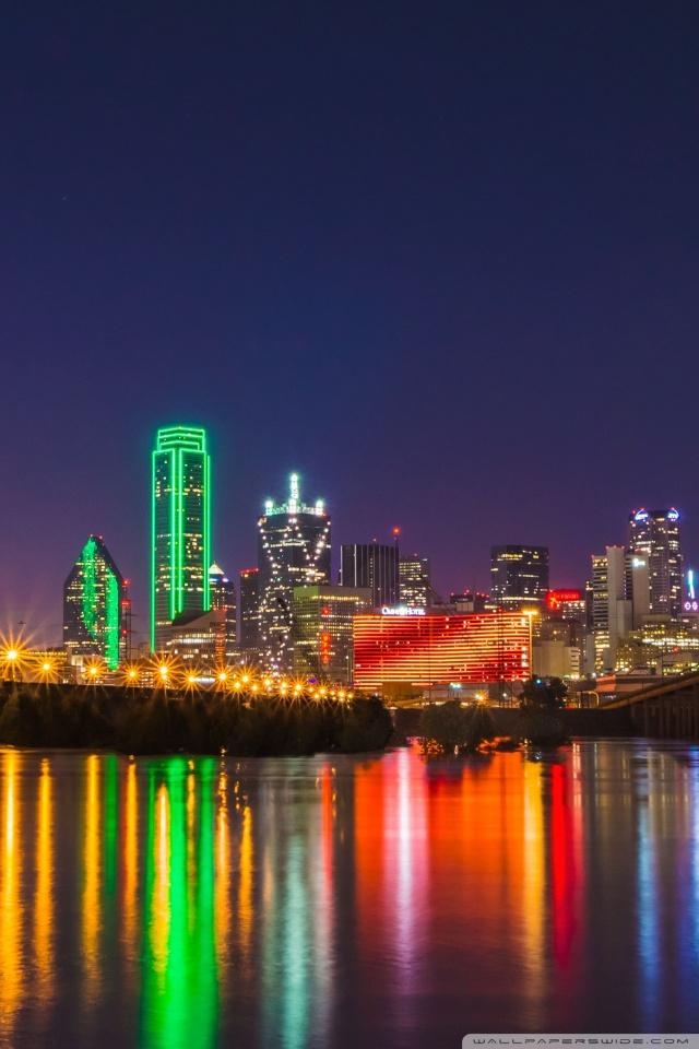 Iphone X New York Wallpaper Oversaturated Dallas Skyline 4k Hd Desktop Wallpaper For