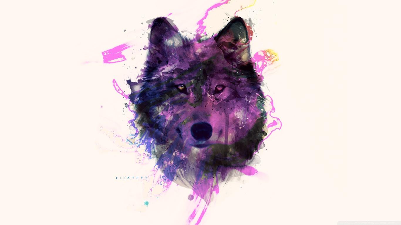 Uhd 3d Wallpaper Download Purple Wolf 4k Hd Desktop Wallpaper For 4k Ultra Hd Tv