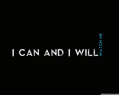Quotes I CaN AnD I WiLl 4K HD Desktop Wallpaper for 4K Ultra HD TV • Wide & Ultra Widescreen ...