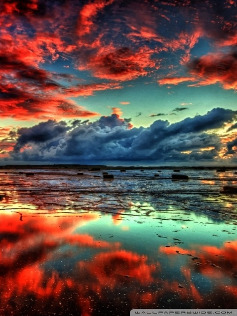 5 Inch Screen Hd Wallpapers Red Clouds On Lake 4k Hd Desktop Wallpaper For 4k Ultra Hd