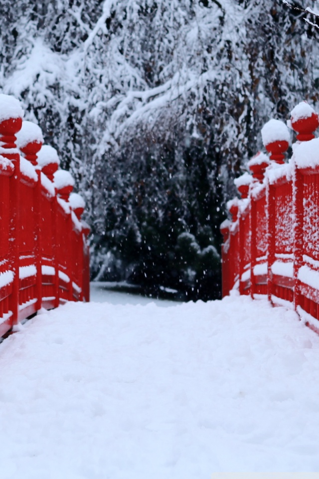 Iphone X Wallpaper Reddit Red Japanese Bridge Winter 4k Hd Desktop Wallpaper For 4k