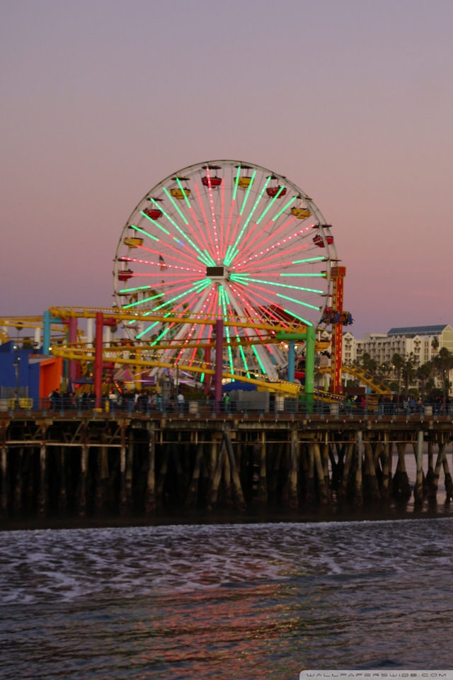 Iphone X Wallpaper Reddit Santa Monica Beach At Evening Los Angeles 4k Hd Desktop