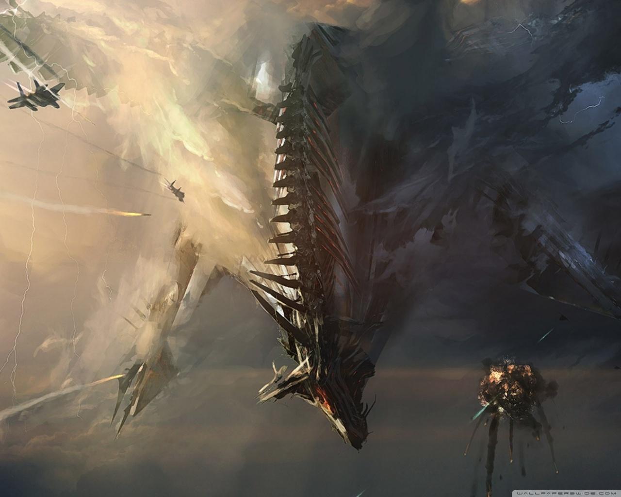 Fall Painting Wallpapers Sci Fi Dragon 4k Hd Desktop Wallpaper For 4k Ultra Hd Tv