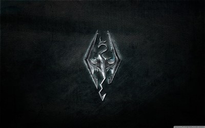 Skyrim Logo 4K HD Desktop Wallpaper for 4K Ultra HD TV • Tablet • Smartphone • Mobile Devices