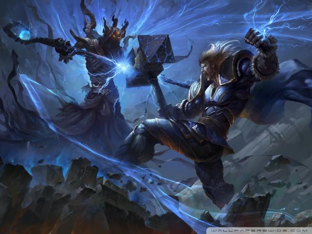 Assassins Creed 2 Hd Wallpapers Smite Thor Vs Hades Concept Art 4k Hd Desktop Wallpaper