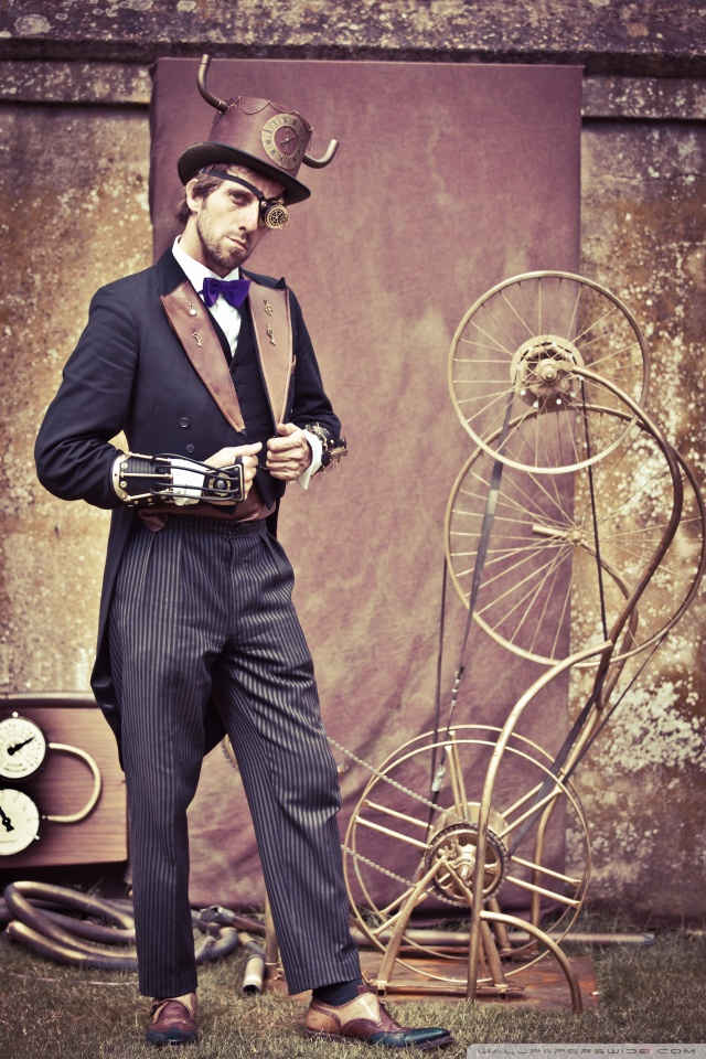 Cute Stylish Girl Wallpaper Download Steampunk Fashion Men 4k Hd Desktop Wallpaper For Wide
