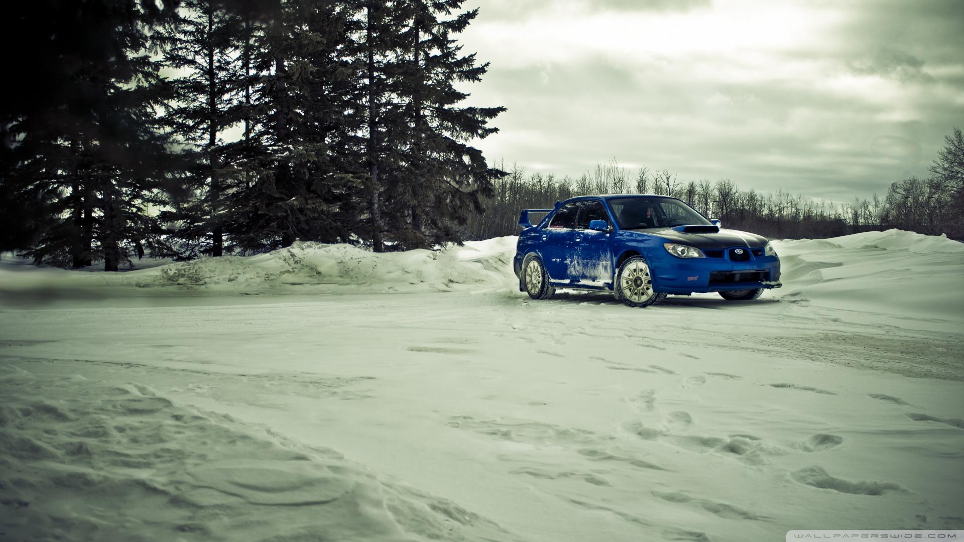 Subaru Impreza Wrx Sti Rally Car Wallpaper Subaru Sti Winter 4k Hd Desktop Wallpaper For Dual