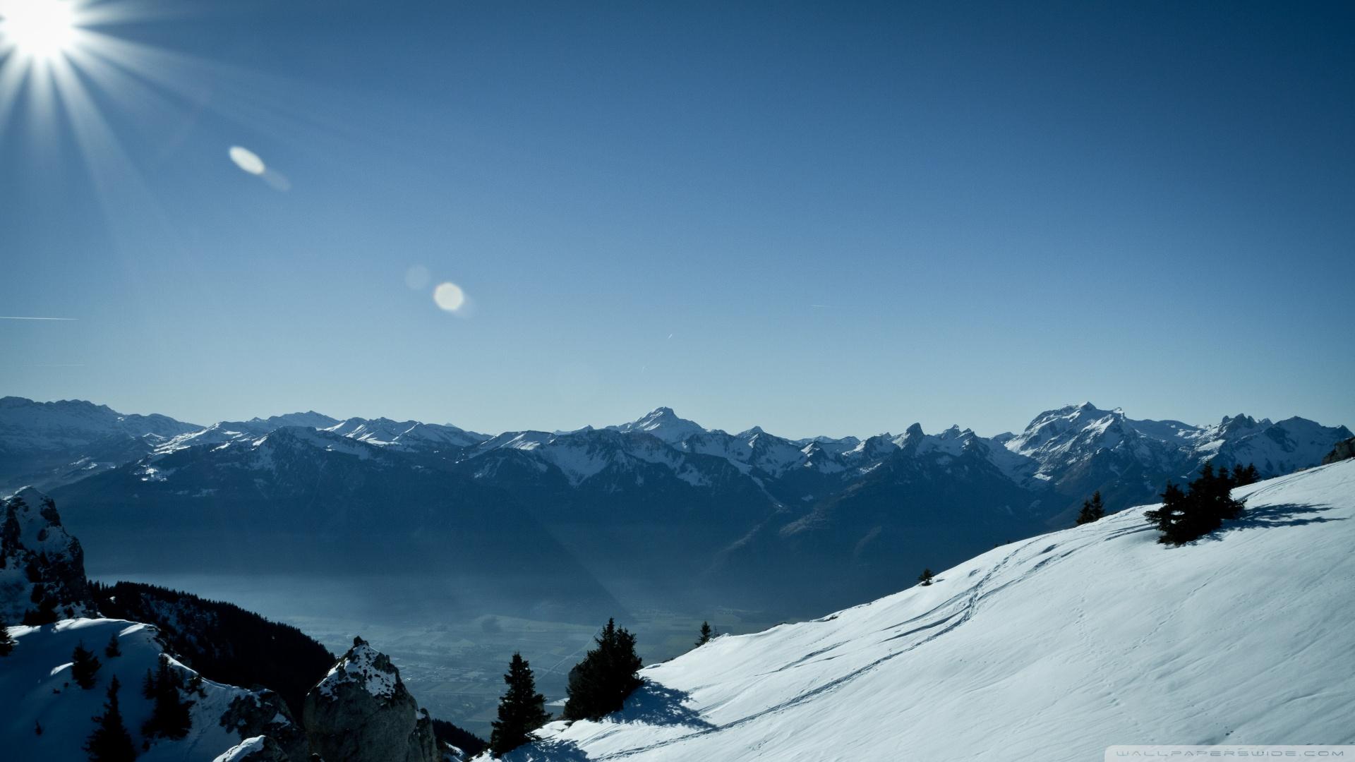 Hd Wallpaper Switzerland Mountains Winter 4k Hd Desktop Wallpaper For