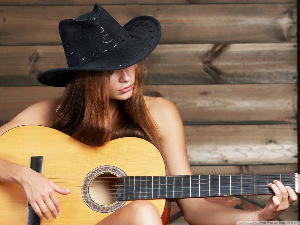 Girl Playing Guitar Hd Wallpapers Texas Girl 4k Hd Desktop Wallpaper For
