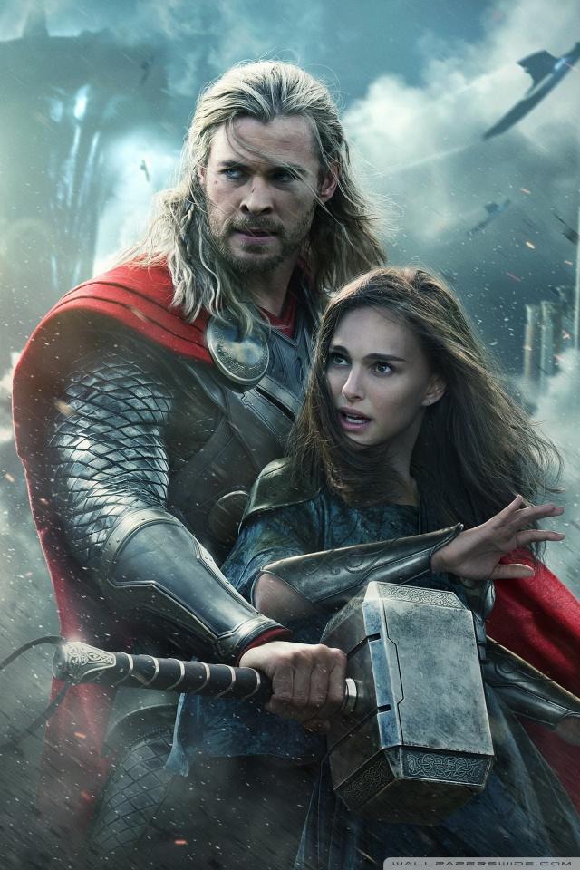 Superhero Wallpaper Hd Thor The Dark World Natalie Portman And Chris Hemsworth 4k
