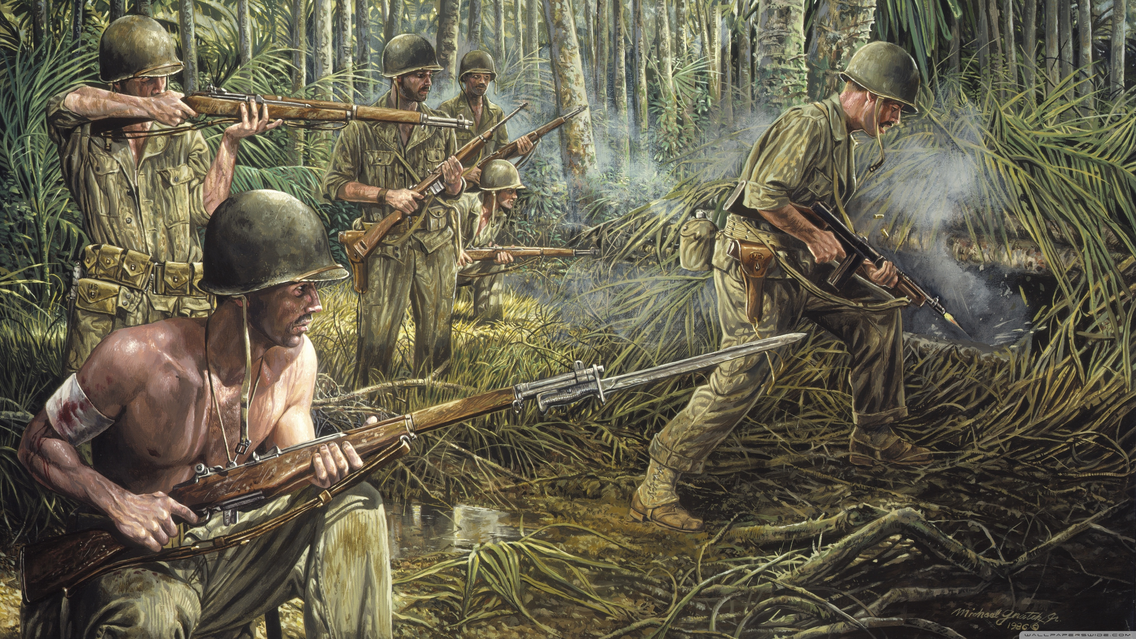 Vietnam War Painting 4k Hd Desktop Wallpaper For 4k Ultra