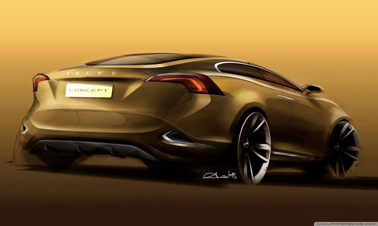 Full Hd Car Wallpapers 1080p Bmw Volvo S60 Concept Sketch 1 4k Hd Desktop Wallpaper For 4k