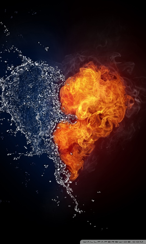 Animated Wallpaper For Tablet Water And Flames Heart 4k Hd Desktop Wallpaper For 4k