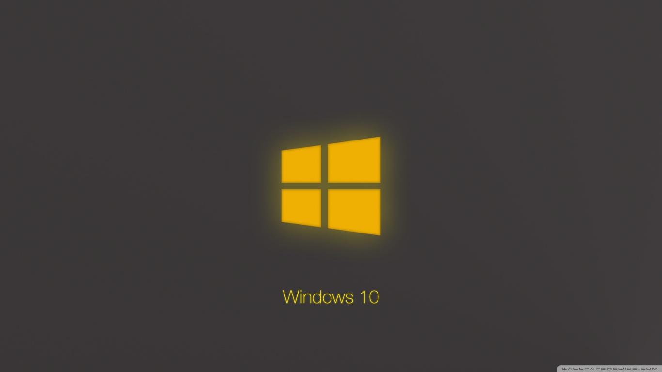 Minecraft Wallpaper Hd Download Windows 10 Technical Preview Yellow Glow 4k Hd Desktop