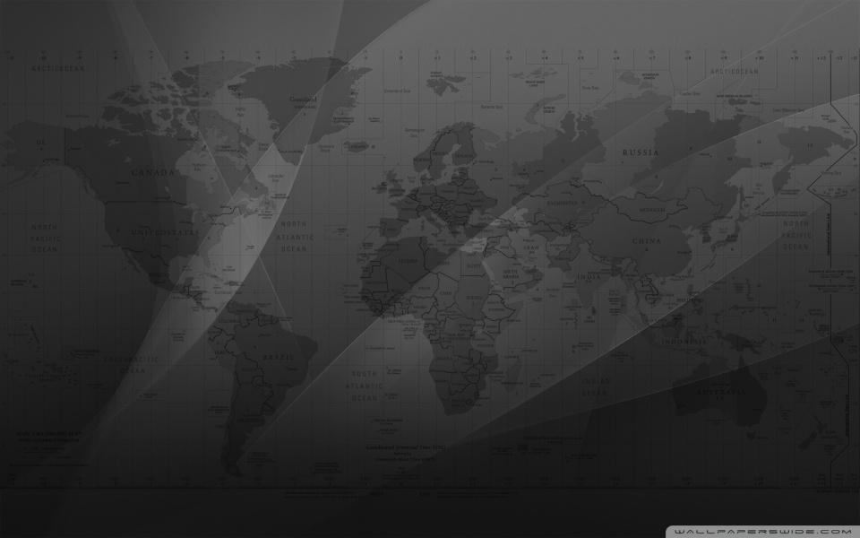 World Map ❤ 4K HD Desktop Wallpaper for 4K Ultra HD TV \u2022 Tablet - Black And Grey World Map
