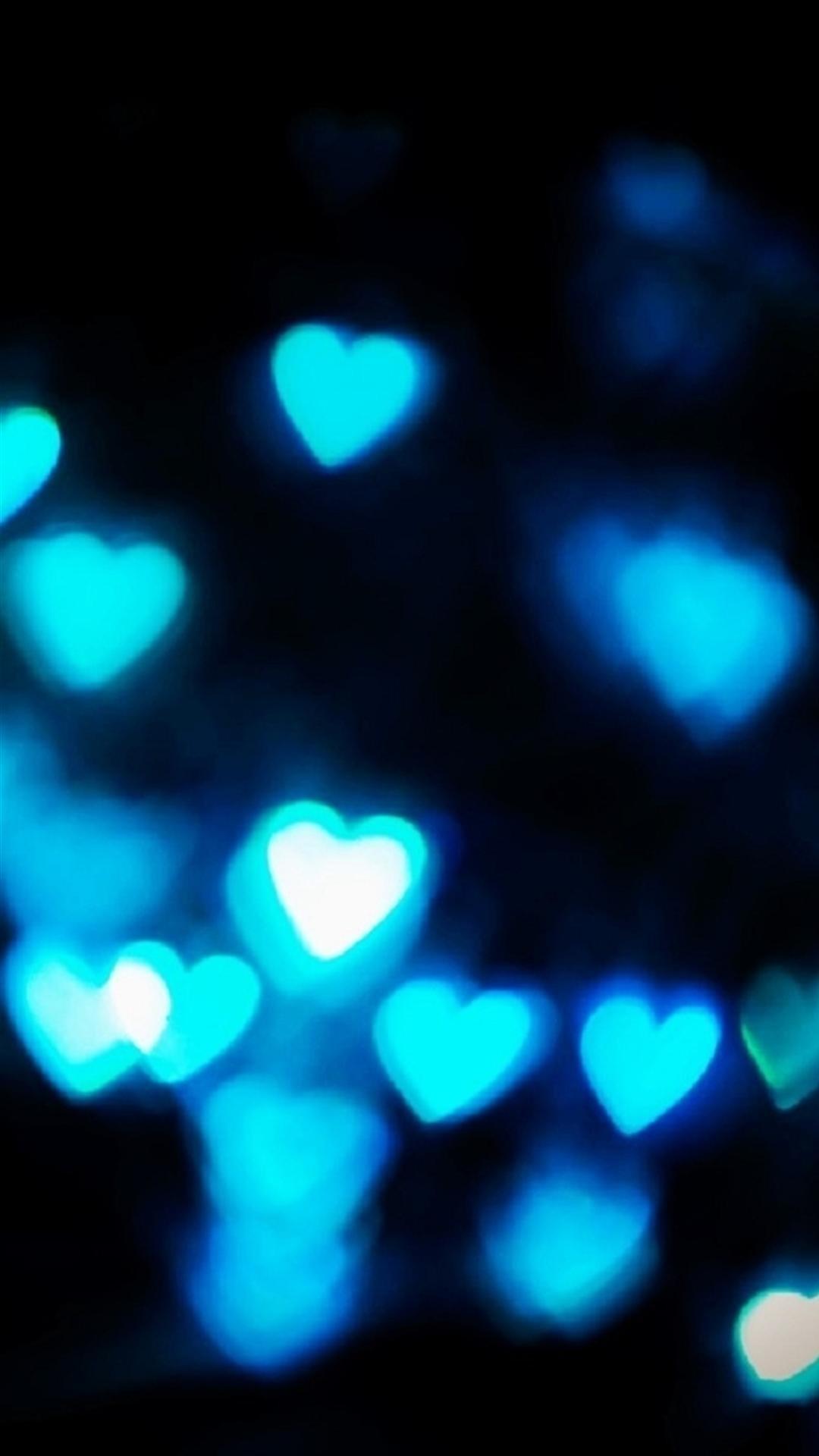 Htc One M8 Wallpaper Hd Blue Hearts Wallpaper 183 ①