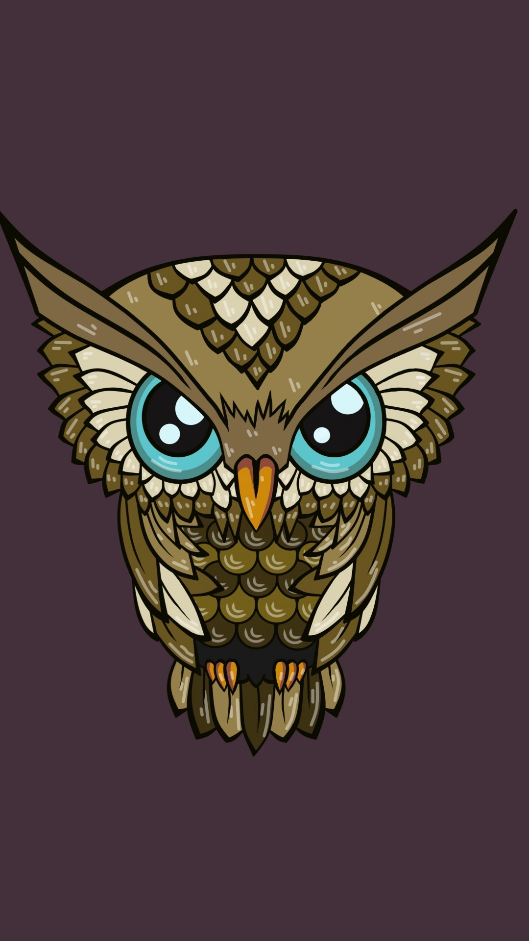 Bright Wallpapers For Iphone 6 Cute Owl Wallpaper 183 ①