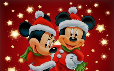 Mickey Mouse Christmas Backgrounds ·①
