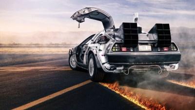 Delorean Back to the Future Wallpaper ·①