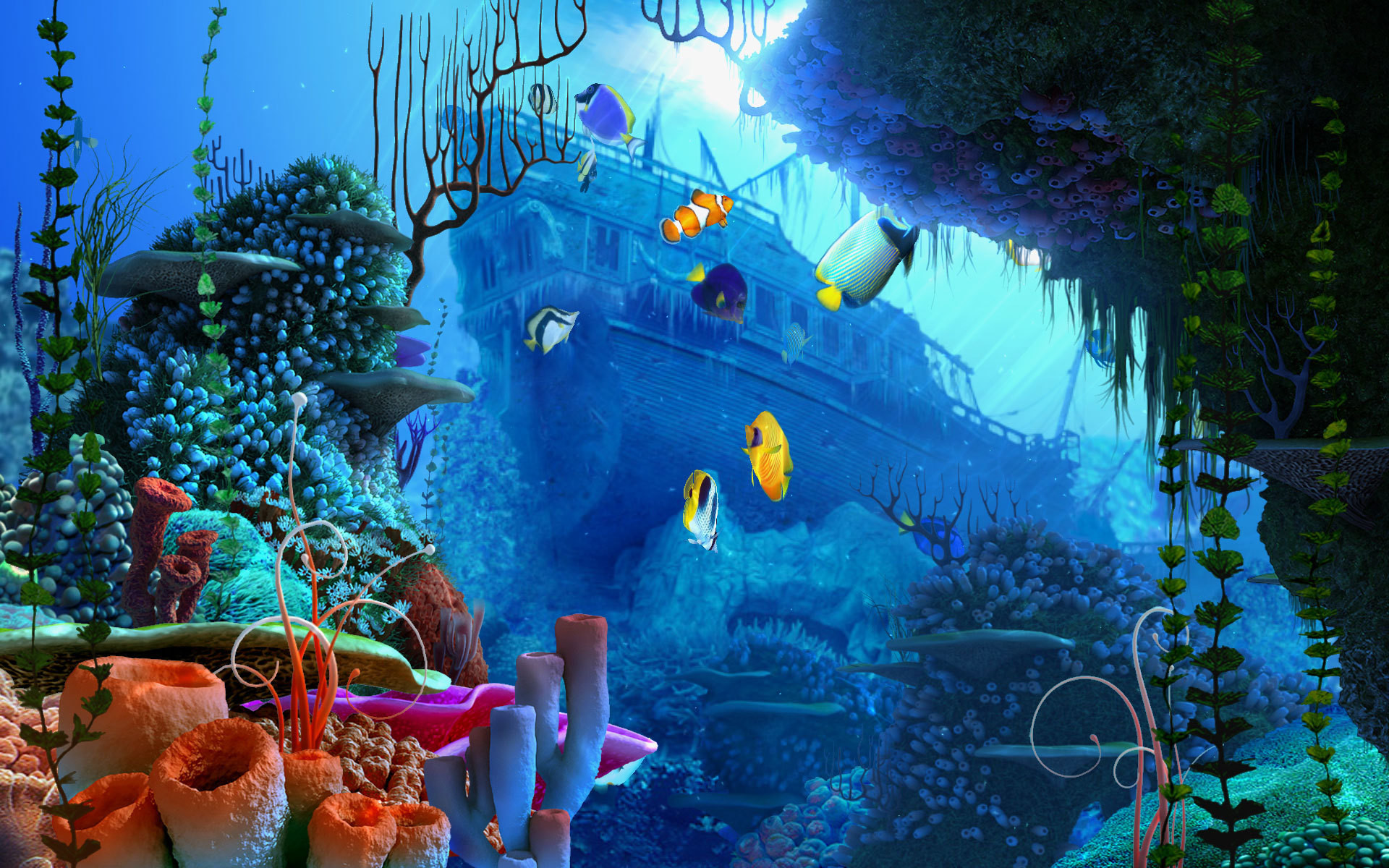 3d Wallpaper Under The Sea Under The Sea Wallpapers 183 ①