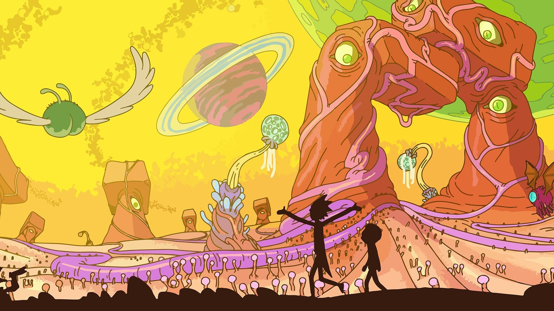 Gravity Falls Wallpaper Ipad Rick And Morty Wallpaper 1920x1080 183 ① Download Free