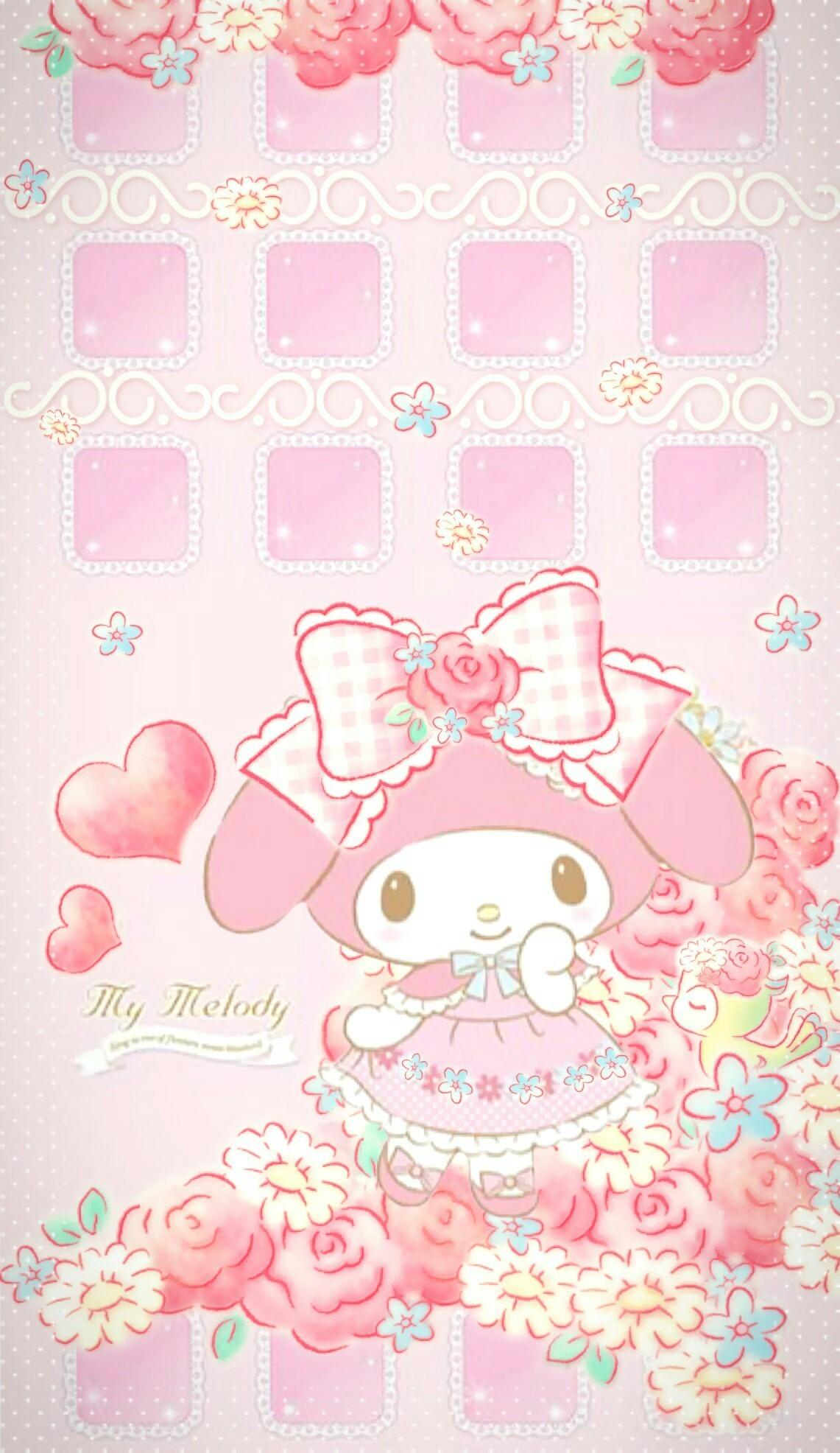 Emoticons Cute Wallpaper My Melody Wallpaper 183 ①