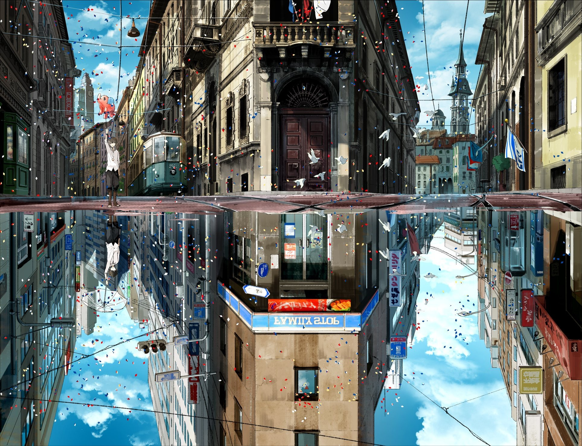 Full Hd Wallpaper Girl And Boy Anime City Wallpaper 183 ① Download Free Beautiful Wallpapers