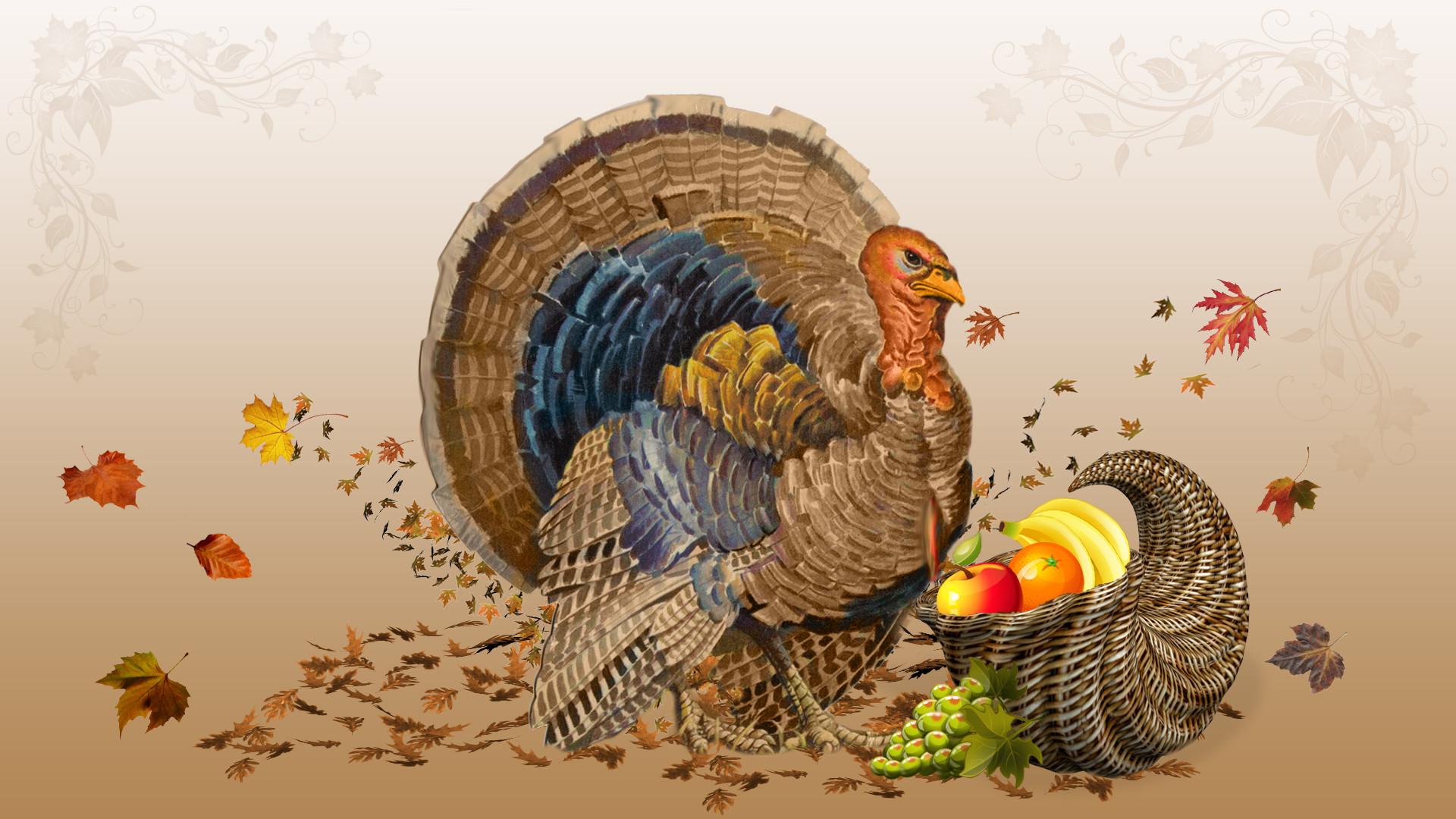 Falling Leaves Wallpaper Screensavers Turkey Wallpaper Thanksgiving 183 ①