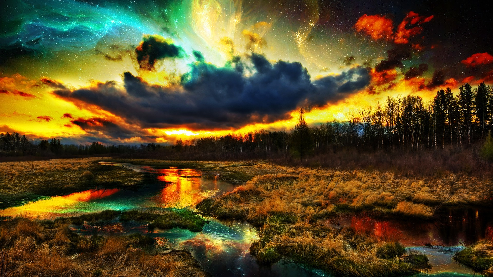 3d Rainbow Psychedeli Wallpaper Colorful Nature Wallpapers 183 ①