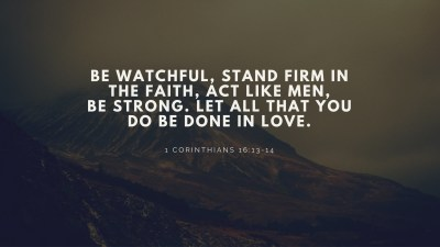 Christian Wallpaper with Scripture ·①