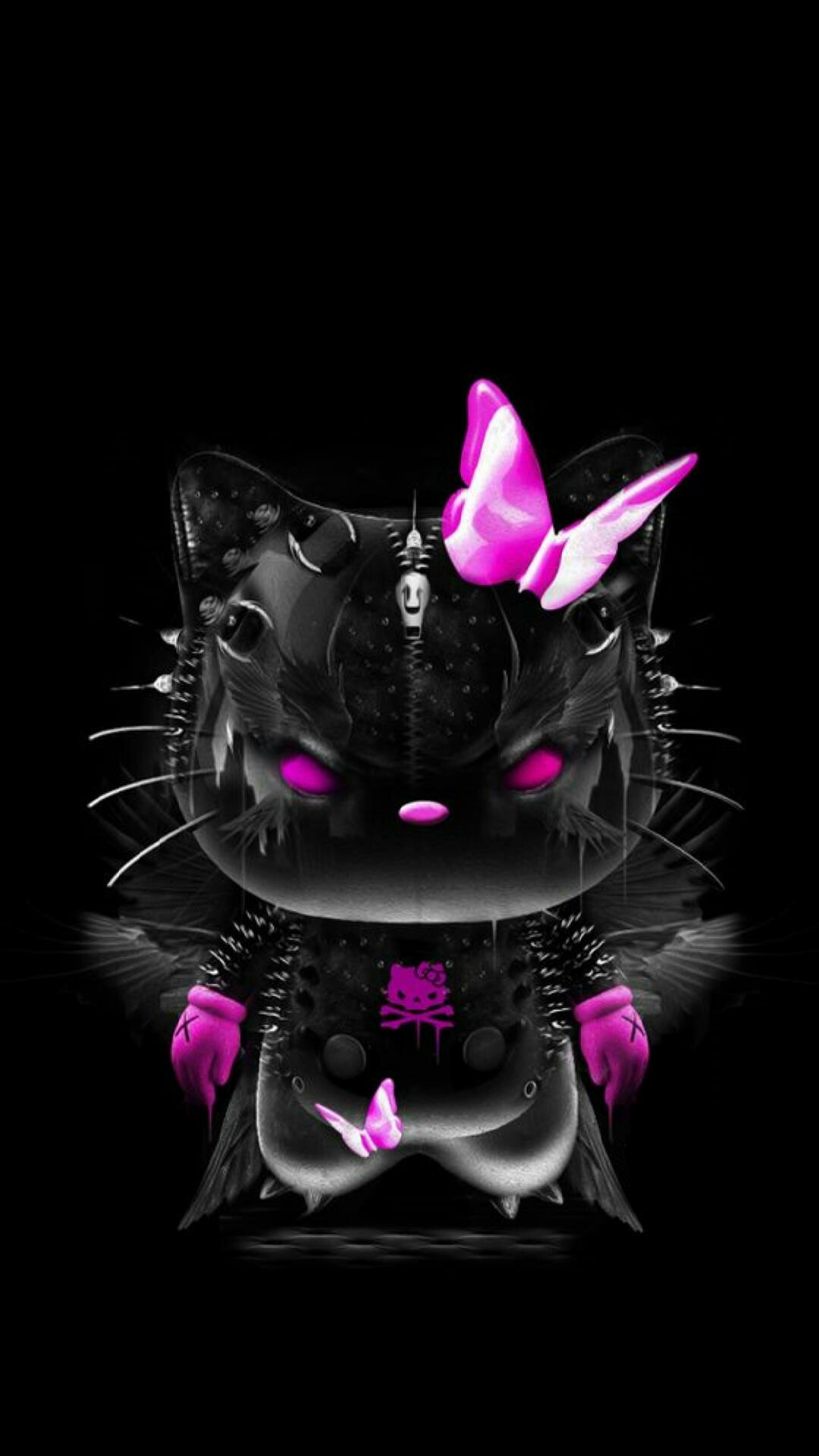 Cute Ipod Wallpapers For Walls Hello Kitty Wallpaper Pink And Black 183 ①