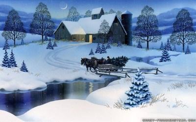 Wallpaper Christmas Scenes ·①