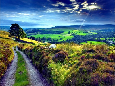 English Countryside Wallpaper ·①