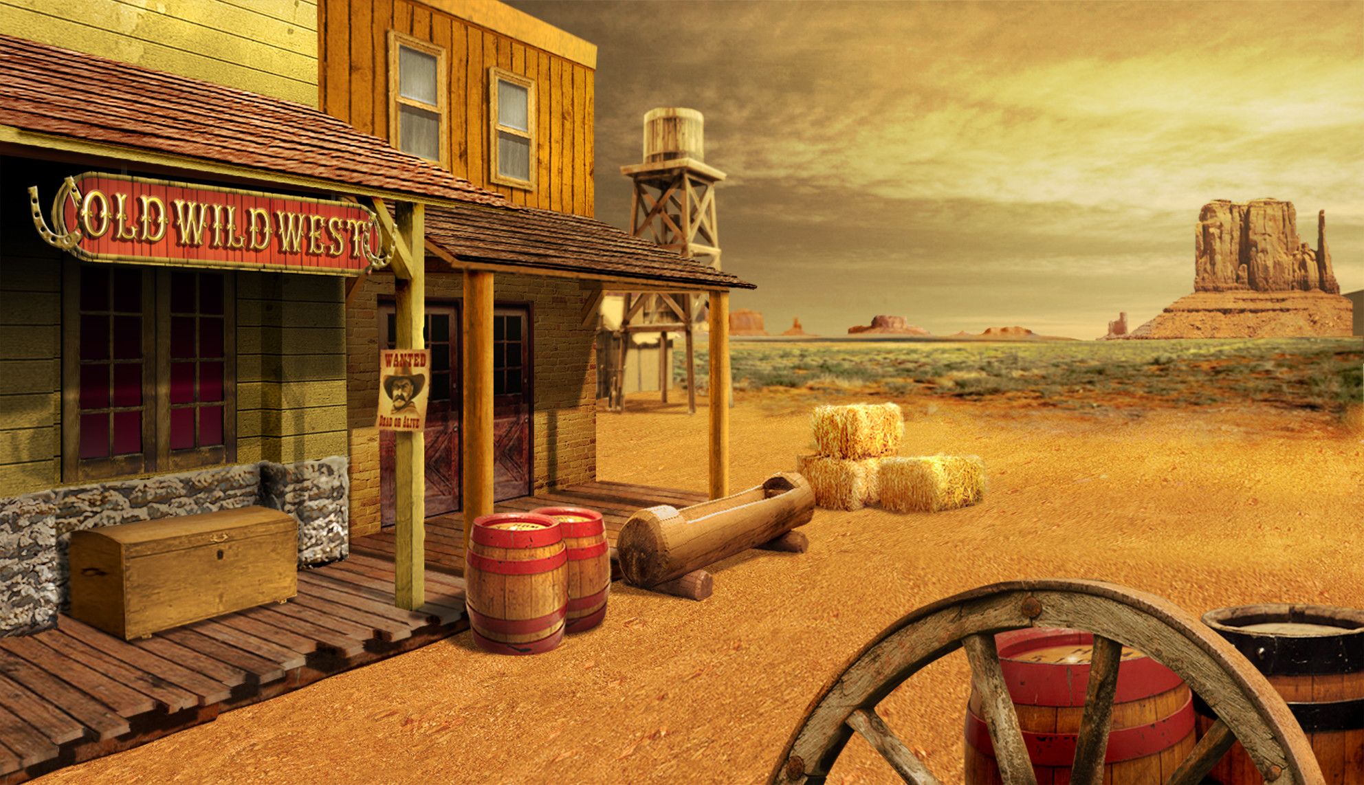 3d Ghost Wallpaper Download Old West Background 183 ①