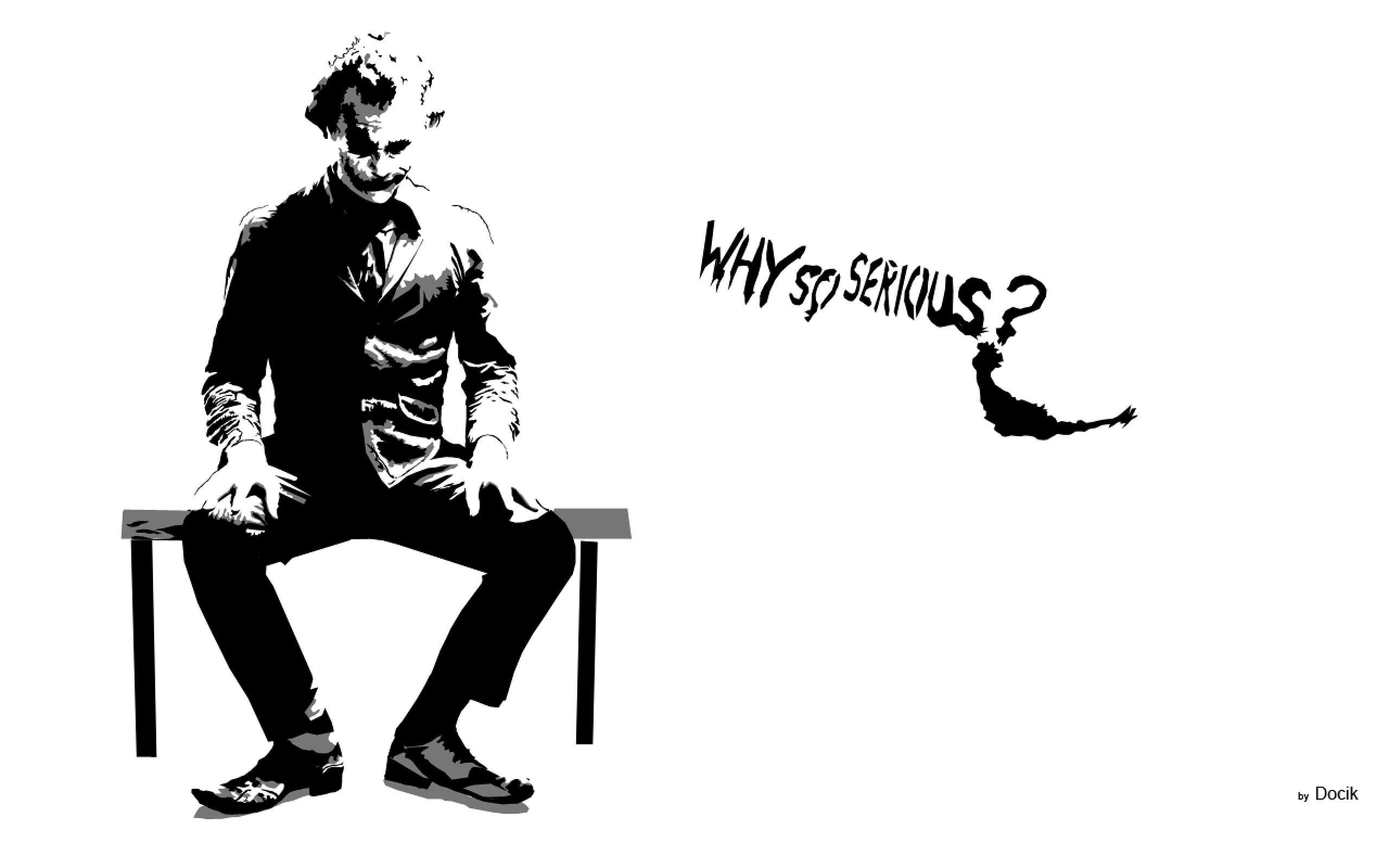 Joker Why So Serious Wallpaper 183 1