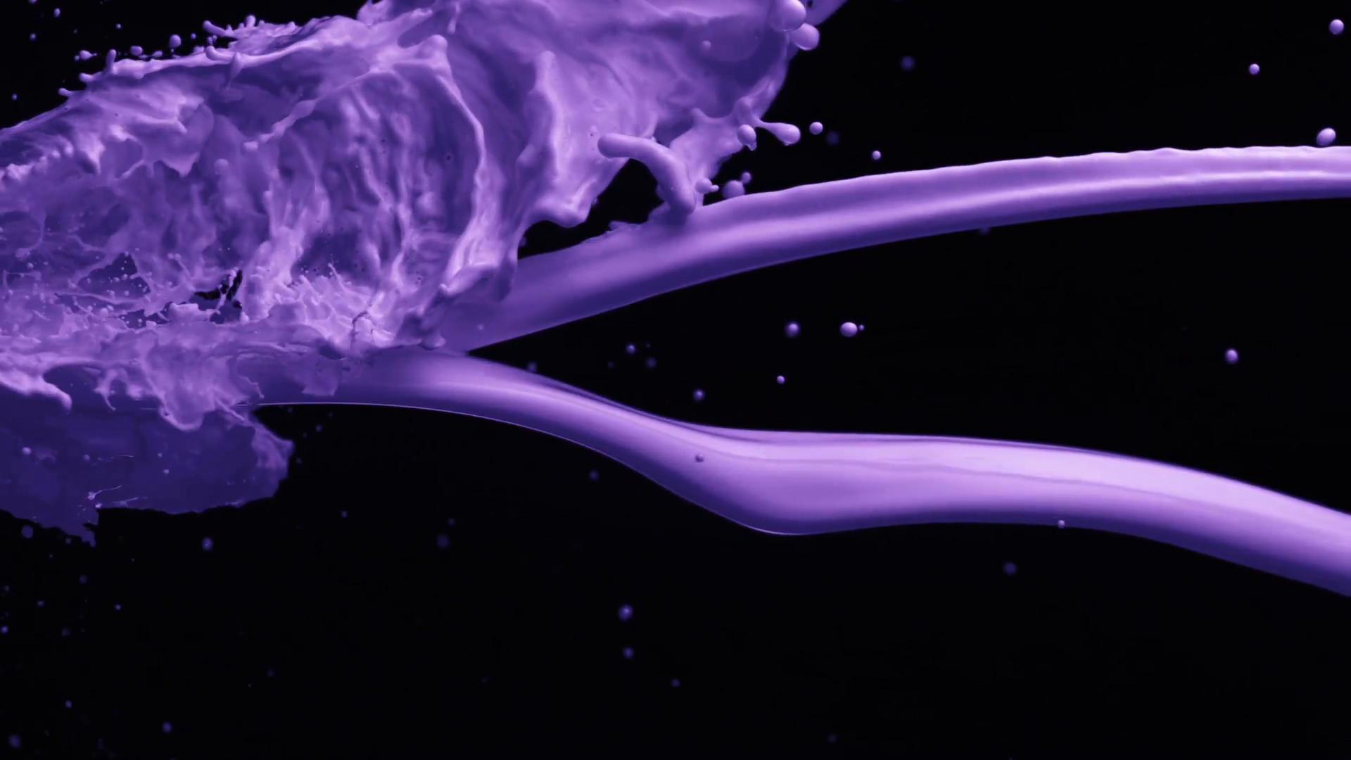 Paint Falling Wallpaper Purple And Black Background 183 ①