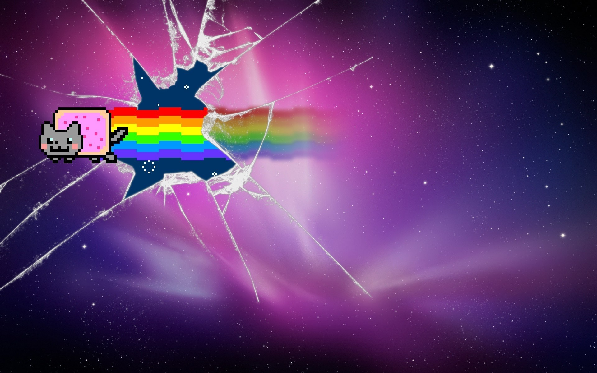 3d Moving Galaxy Wallpaper Broken Glass Backgrounds 183 ①