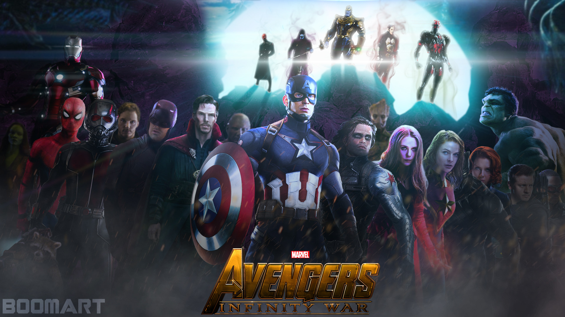Dual Monitor Animated Wallpaper Avengers Infinity War Wallpapers 183 ①