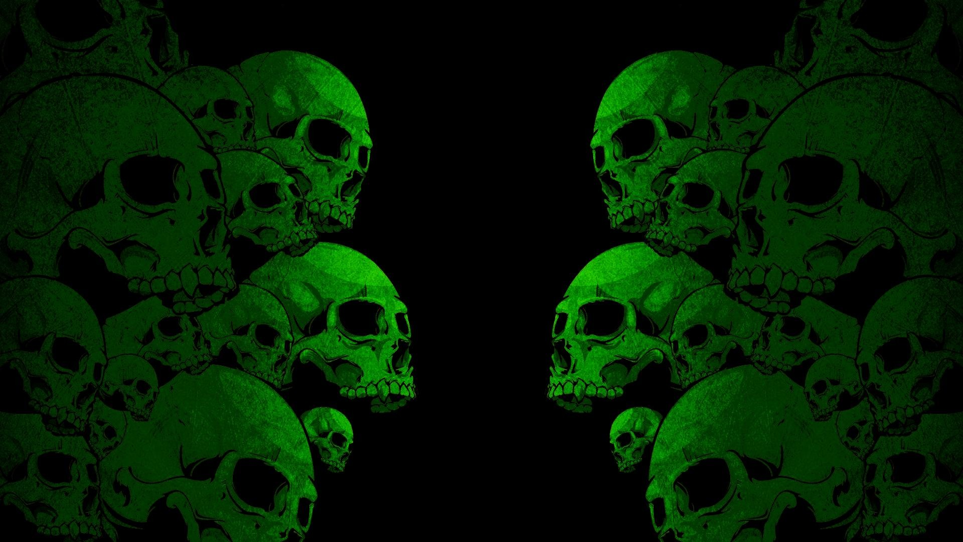Cute Holographic Wallpapers Black Skull Background 183 ①