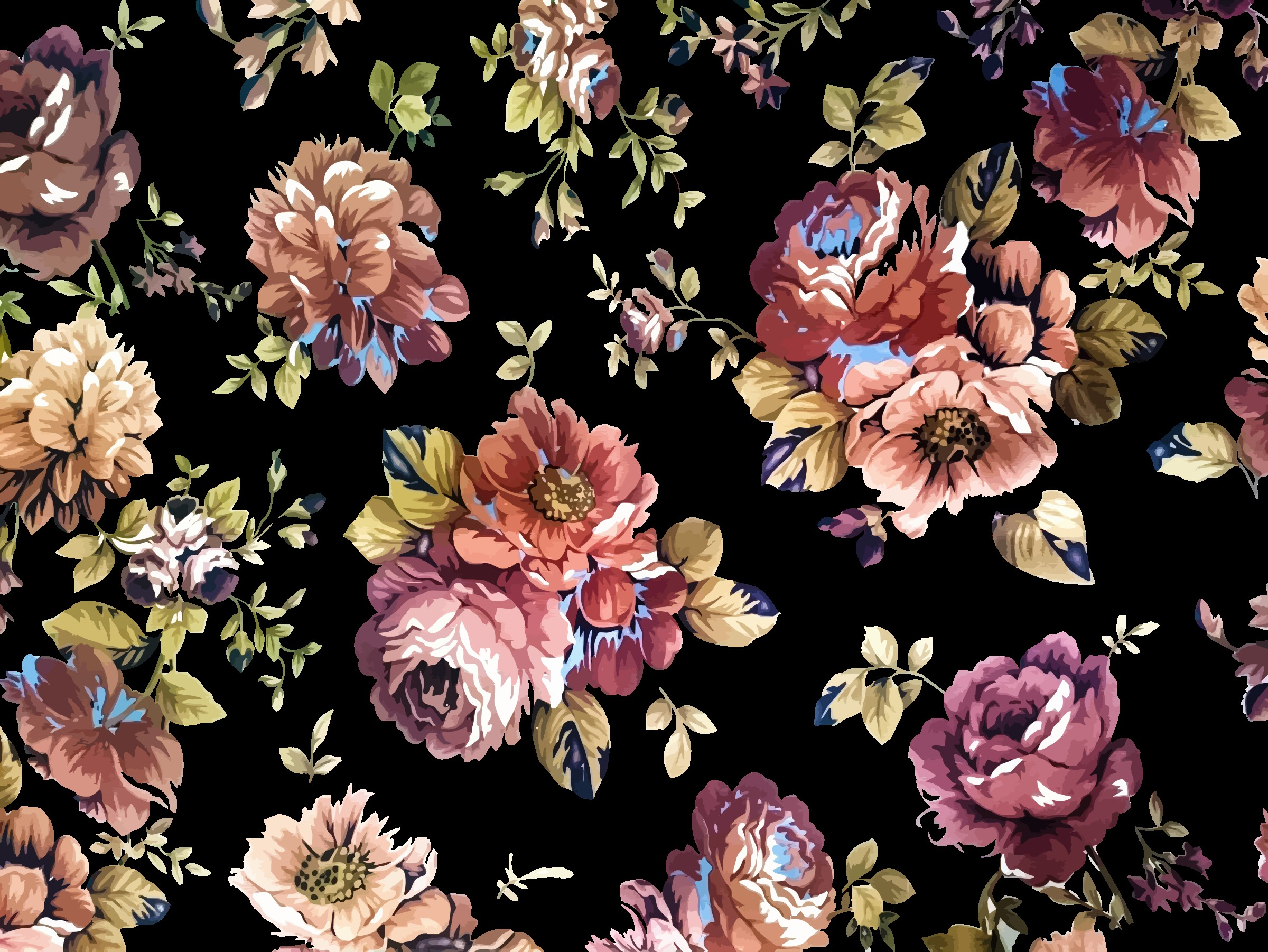 Leaf Wallpaper Quote Mac Vintage Flower Background 183 ① Download Free Amazing High