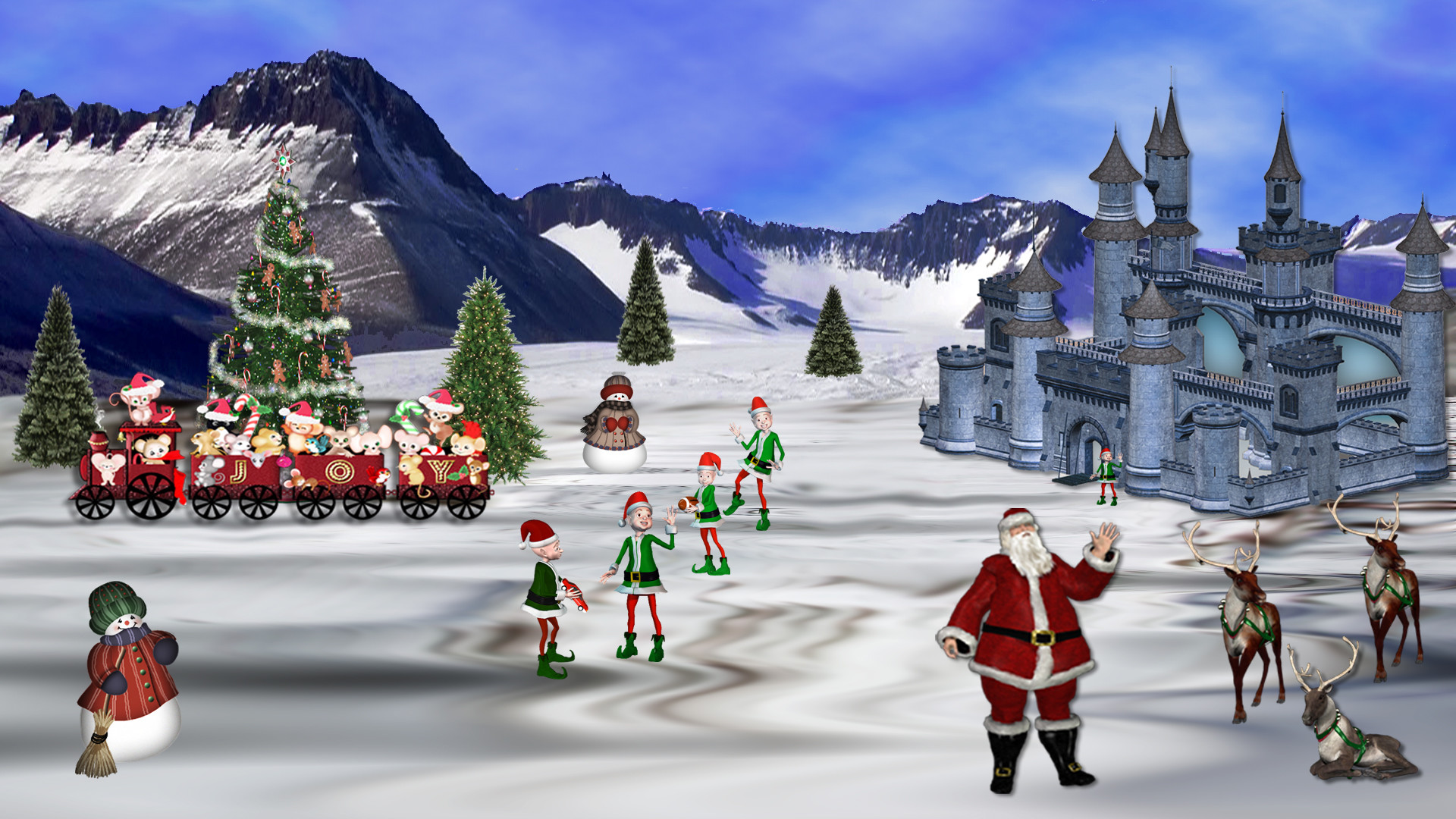 Live 3d Wallpaper Snowing North Pole Wallpapers 183 ①