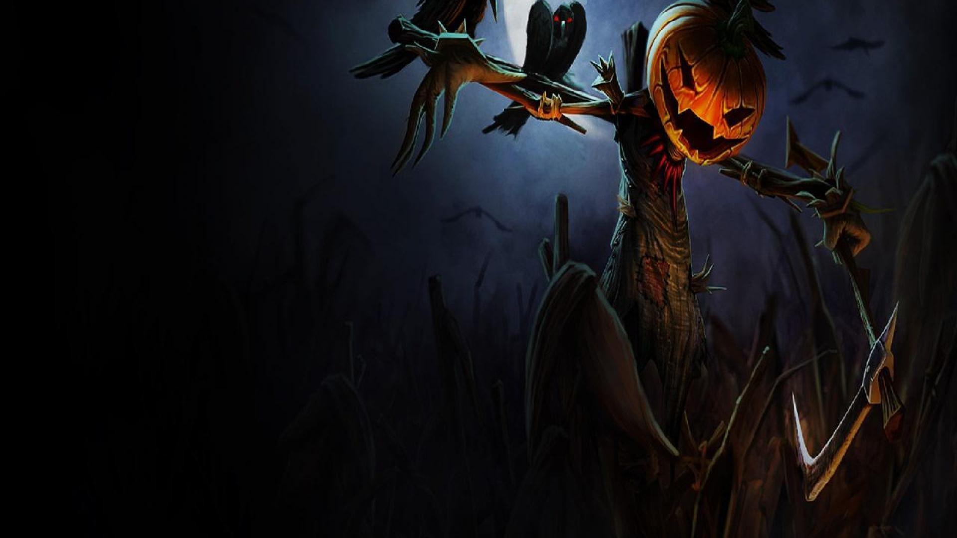 Fall Hd Wallpapers 1080p Widescreen Scarecrow Wallpaper 183 ①