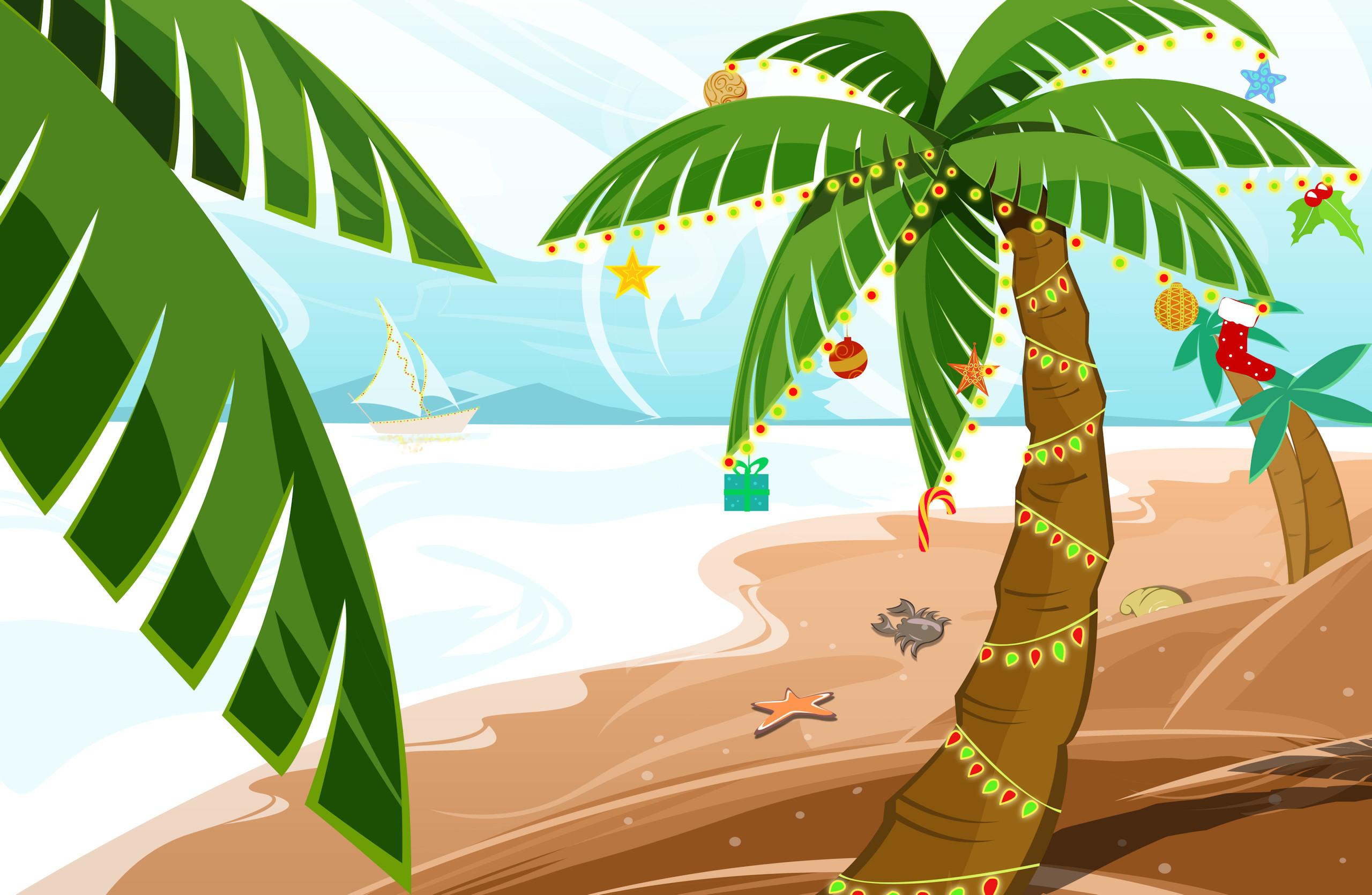 Hawaiian Tropic Girl Wallpaper Tropical Christmas Wallpaper 183 ①
