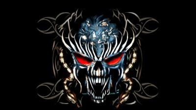 Dark Skull Wallpaper ·①