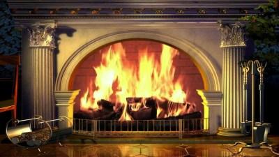 Fireplace Desktop Wallpaper ·①