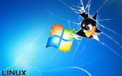 Wallpaper Linux vs Windows ·①