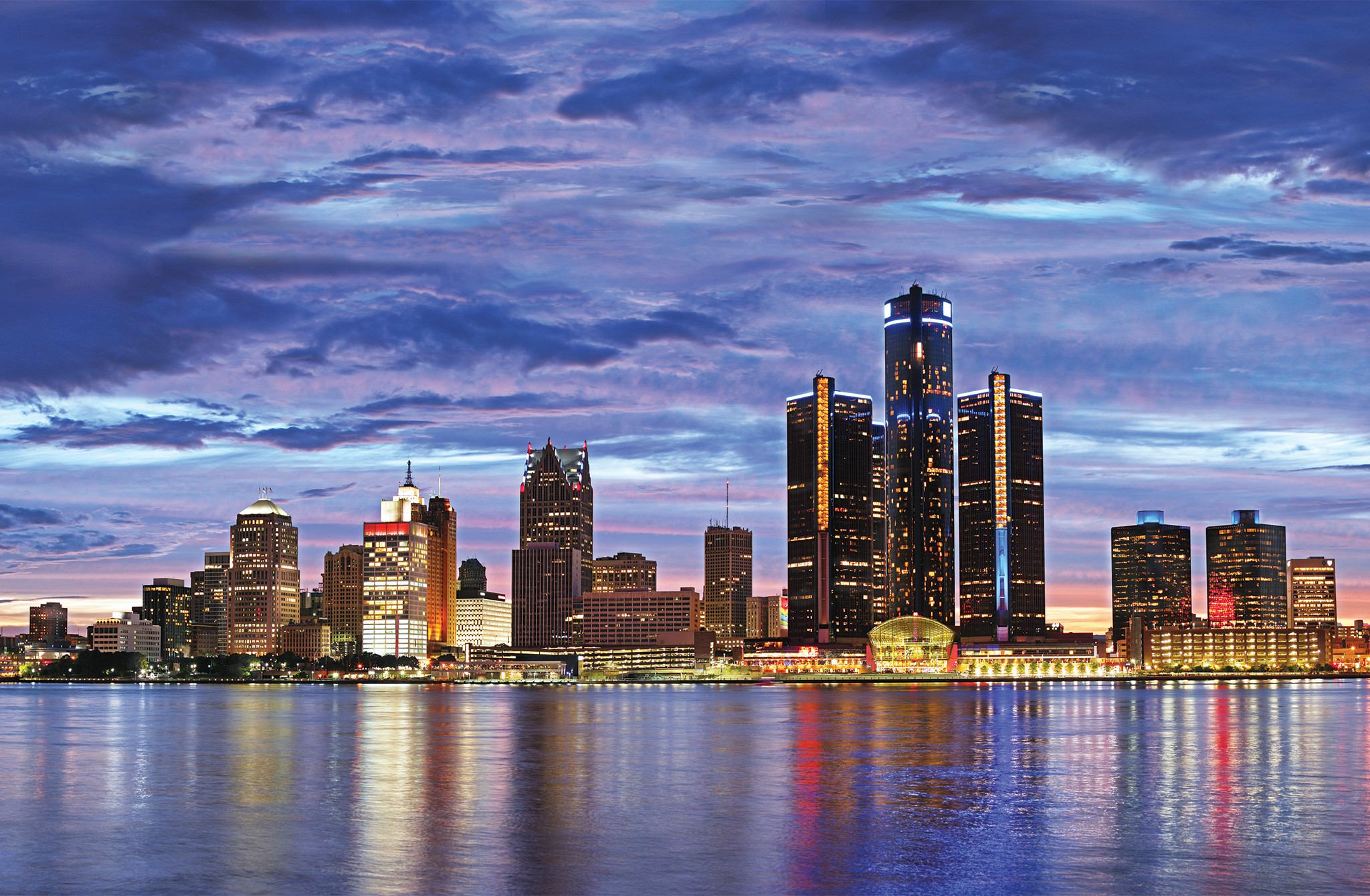 Black And White Feature Wall Wallpaper Detroit Skyline Wallpaper 183 ①