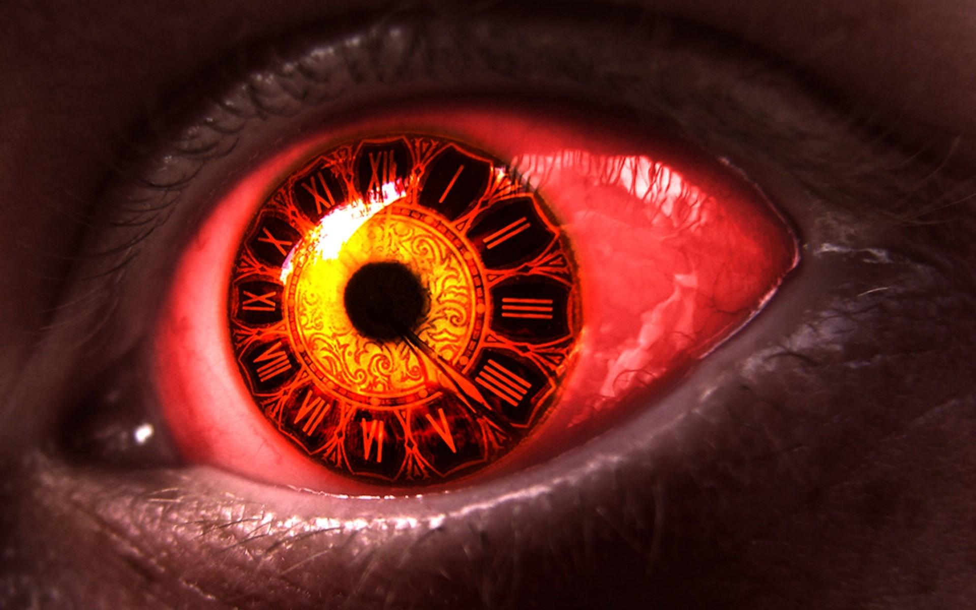 3d Digital Clock Wallpaper Eyeball Wallpaper 183 ①