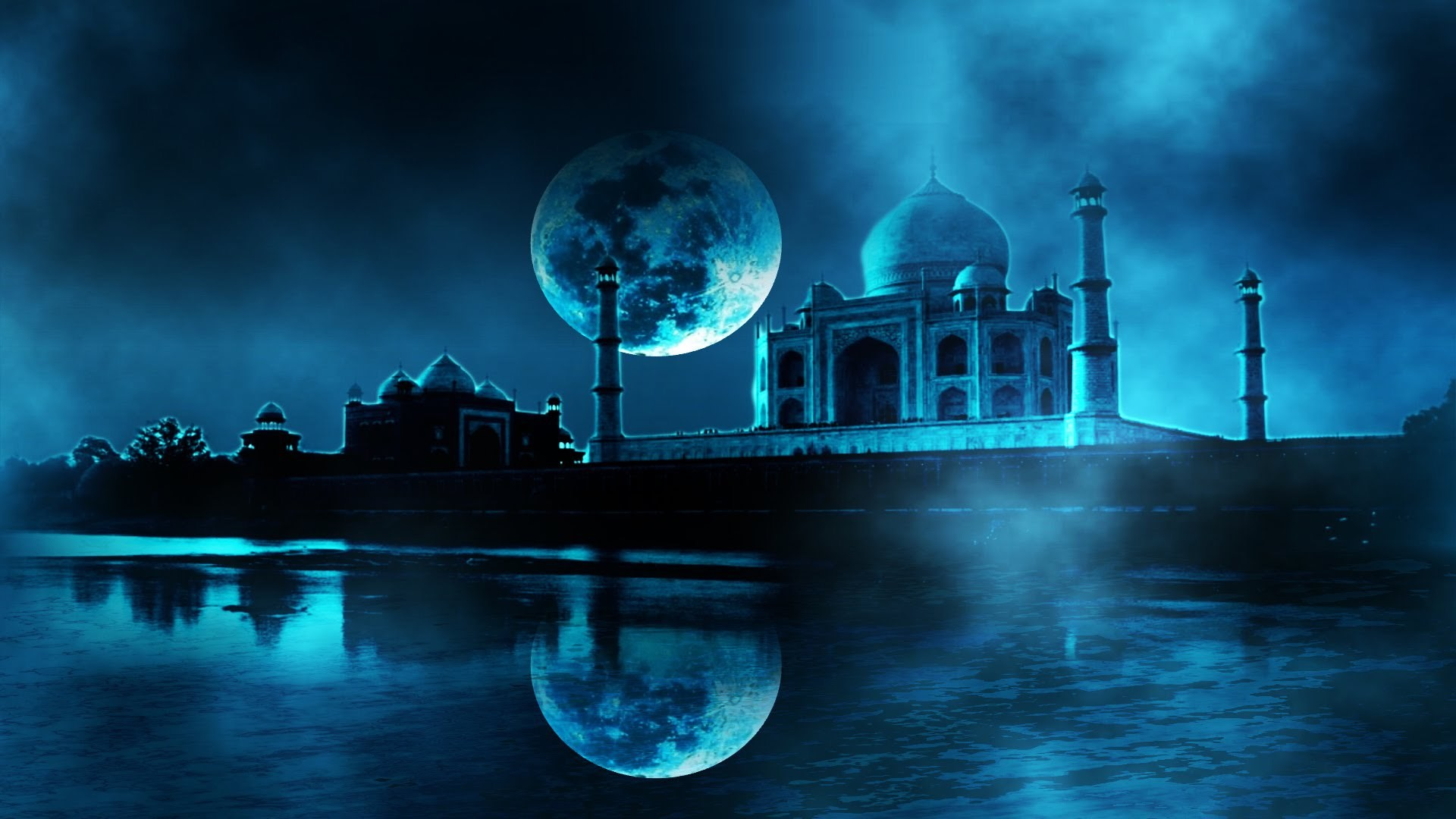 Fall In The Mountains Wallpaper Taj Mahal At Night Wallpaper 3d 183 ①