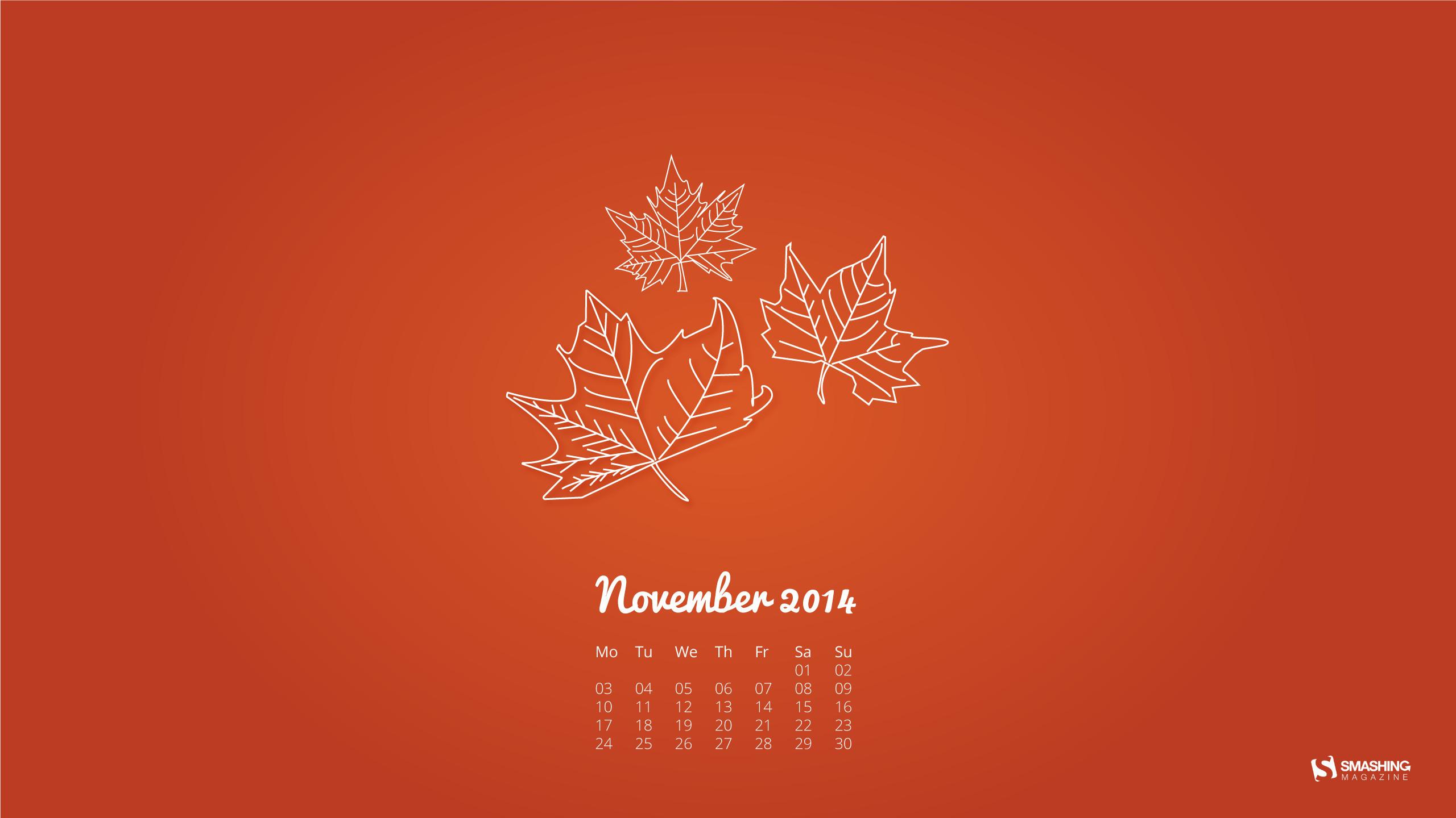 Cute November Calendar Wallpaper Wallpaper 2018 Desktop 183 ①